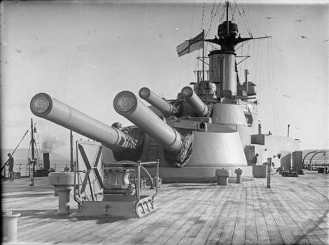 HMSEmperorOfIndiaAft135inchGuns
